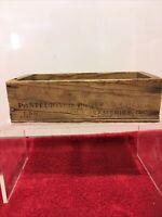 Land O' Lakes Creameries Advertising Wooden American Cheese 2 lb Box vintage