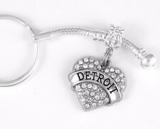 Detroit key chain Detroit keychain best Michigan jewelry present gift go Detroit