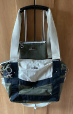 Immaculate! Used Twice! Khaki/Black/Cream Kipling Bag and Matching Purse