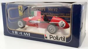Polistil 1/16 Scale Vintage Diecast - 01671 Ferrari 500 F2 Red #5