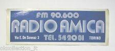 ADESIVO RADIO Vecchio / Sticker / Autocollant_ RADIO AMICA TORINO (cm 20 x 7.5)