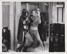 1966 Adam West as Batman and Frank Gorshin as Riddler - Promotional Photograph