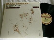 SARAH VAUGHAN Recorded Live Roy Haynes Thad Jones Frank Wess Richard Davis 2 LP