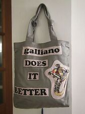 Galliano Tote Handbag Large clover style handbag from John Galliano