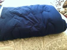 "Down Blue & Cream Reversible Comforter-Twin 58"" X73"" Navy Blue"