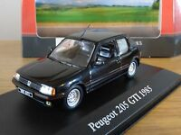 ATLAS EDITIONS CORGI VANGUARDS PEUGEOT 205 GTI 1985 BLACK CAR MODEL HM14 1:43
