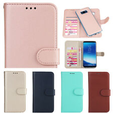 Detachable Magnetic Leather Flip Wallet Card Case Cover For Samsung S8 S9 Note 8
