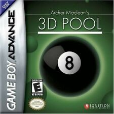 Nintendo Gameboy Advance juego-Archer MacLean's 3d piscina módulo