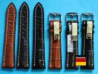 Echt Alligatorenleder Uhrenarmband 20+22mm kompatibel Breitling Dornschließe