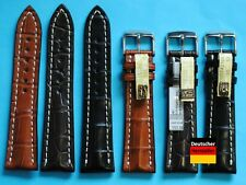 Vrai Alligator Bracelet Montre 20+22mm Compatible Breitling Boucle de Pin