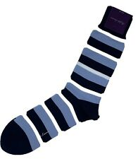 Ralph Lauren Purple Label Cotton and Nylon Socks Striped Blue Made in Japan
