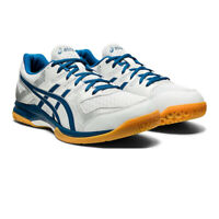 Asics Mens Gel-Rocket 9 Indoor Court Shoes Blue Grey Sports Squash Badminton