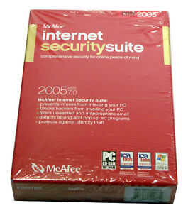 McAfee Internet Security Suite 2005 Version 7.0 Free Shipping