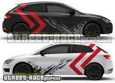 Seat Leon FR Cupra Rally 018 grunge mud splatter graphics stickers decals vinyl