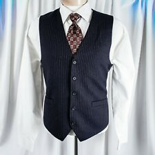 UNBRANDED  Navy Blue with White Stripes Men Vest
