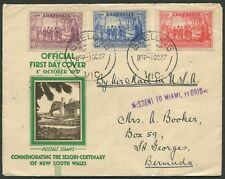 FDC: 1937 Sesquicentenary set of 3, VFU on official FDC from GEELONG