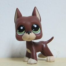 Littlest Pet Shop LPS Figure Toy #1519 Brown Great Dane Dog Green Eyes D1