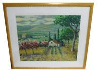"CHRISTIAN TITLE (AMERICAN, 20TH C.) ""THE ORCHARD"" FRAMED SERIGRAPH #65/100"
