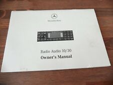 Mercedes Audio 10/30 ALPINE Becker Radio CD player opération guide instruction