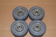 "Qty:4 3-1/2"" Caster Wheel 250 lb. Load Rating Wheel Width 1-1/4""  fits 3/8 axle"