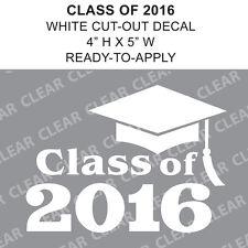 Class Of 2016 Graduation Cap White vinyl decal car sticker - Ready-to-Apply