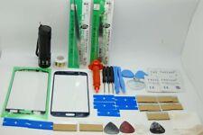 Samsung S6 SM-G920F Blu, Kit di Riparazione Vetro Schermo Frontale, Cavo, Torcia