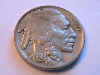 1925-P Buffalo Nickel Choice (F+) Fine+ Nice Original Indian Head 5 Cent US Coin
