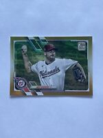 2021 Topps Series 1 Max Scherzer Washington Nationals Gold Foil Parallel #325