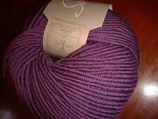 SUBLIME EXTRA FINE MERINO DK, 1 SKEIN,  color AUBERGINE, SOFT  KNITTING YARN
