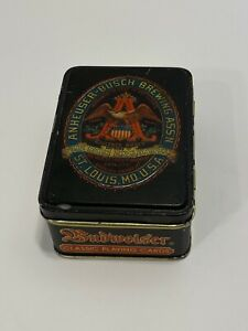Vintage Anheuser-Busch Budweiser Classic Playing Cards Tin - Sealed