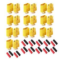 XT60 Goldstecker Lipo Akku Stecker Buchse + Schrumpfschlauch 1 2 3 4 5 10 20 60A