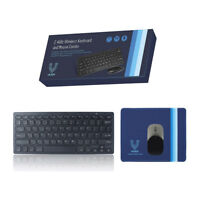 Vilros 2.4GHz Wireless Keyboard and Mouse with Mouse-Pad-Great for Raspberry Pi