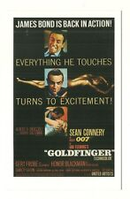 James Bond postcard - 'Goldfinger' - U.S. poster (1964)