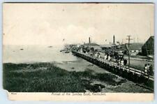 1910 ERA NANTUCKET MASS*ARRIVAL OF THE SUNDAY BOAT*HENRY WYER*BLACK & WHITE