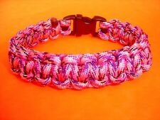 """550 ParaCord Survival Cobra Braided Bracelet - Country Girl Colored -Fits 7 1/2"""""""