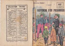 Collection Patrie - Souvenirs d'un prisonnier - N°39-EO - 1917  TBE Trubert