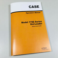 Case 1700 Series 1737 1740 Uni Loader Owners Operators Manual Maintenance Book
