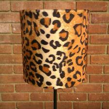 20cm Tan Adult Leopard Print Faux Fur Lampshade & Ceiling Pendant Custom Sizes