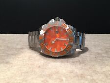 Android AD 442  Men's Divemaster Silverjet 500 Orange Dial Automatic Watch