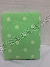 "Pottery Barn Teen Lots of Dots Corduroy Drapes Curtains Panels Green 52x96"""