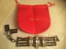 JUICY COUTURE JEWELED 6.5 INCH CHAIN BRACELET ORG. $98.00 BNWT