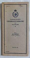 Antike Strassenkarte 1921: Danmark / Dänemark Nr.49: Köge (3139