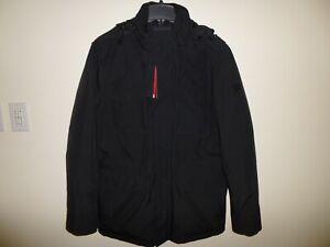 Men's TUMI Utility Padded 4 Pocket Jacket F57117 Black Large L