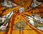 "Hermes Paris Silk Scarf ""NEFS D'OR"" by Ledoux. Rare Vintage Scarf Hermes"