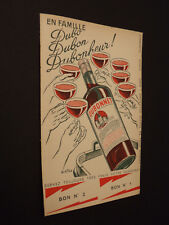 Dubonnet Quinquina bon réduction d'époque old paper