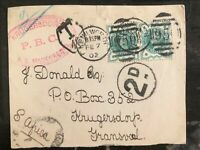 1902 Kenilworth England Postcard Cover To Krugersdorp South Africa