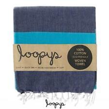 Loopys Navy & Blue Stripe premium Turkish Towel Beach Bath Pool Travel Hammam