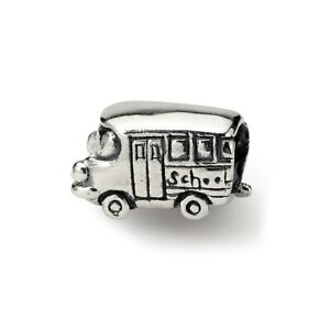 Bus Kids Bead .925 Sterling Silver Antique Finish Reflection Beads