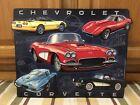 Chevrolet Corvette Vintage Style Metal Stingray Dodge Ford Garage Man Cave Chevy