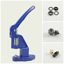 Set Ösenpresse +250 Ösen schwarz 12mm rostfrei +2 Werkzeuge für Handpresse Niete